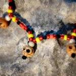 African Tribal skull neckla..