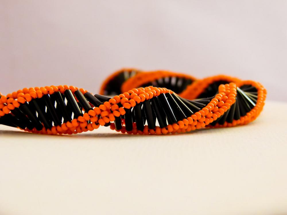 Statement Black Orange spiral choker style necklace . Fashion jewelry