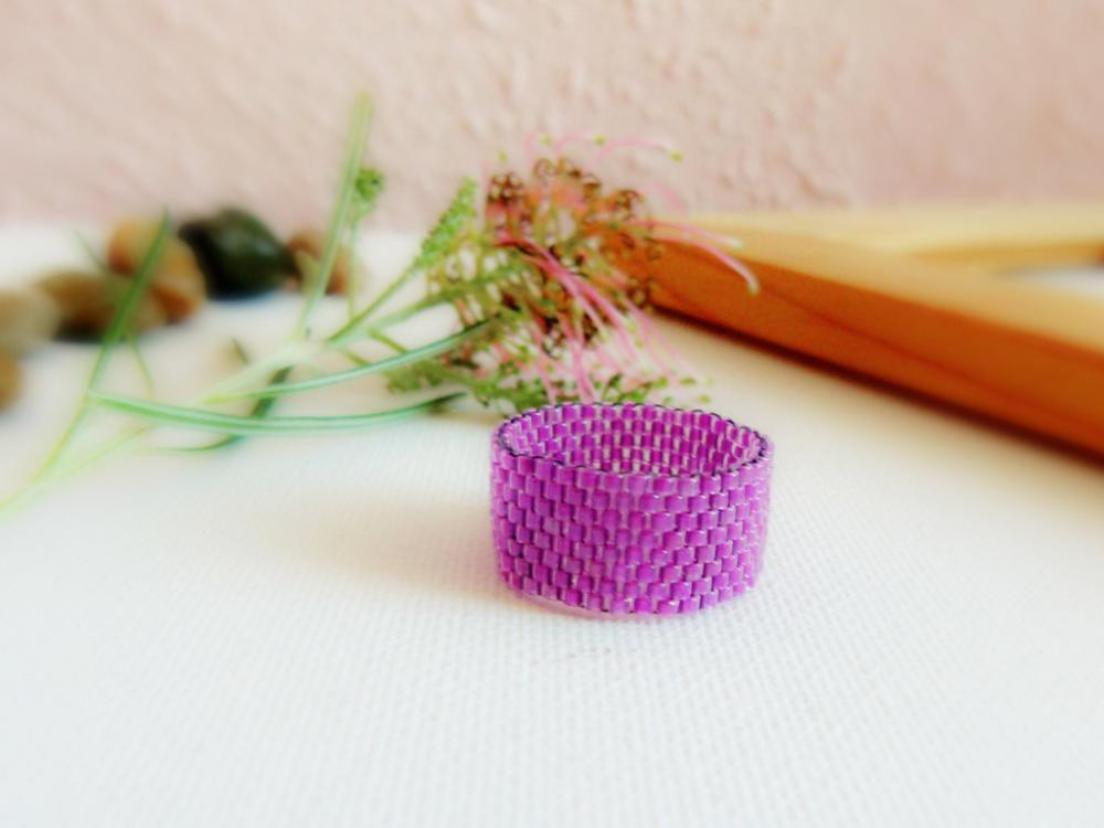 Phlox Purple Custom Band ring. Valentines gift idea. fashion jewelry