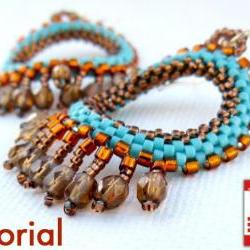 DIY Pattern Beading tutorial Native American Style earrings PDF file