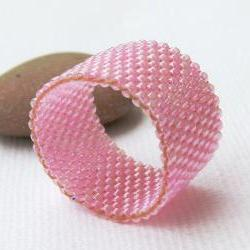 Custom Band Ring. Pink Rose.eco friendly jewelry, holiday party gift idea under 25 tbteam spteam stylistteam